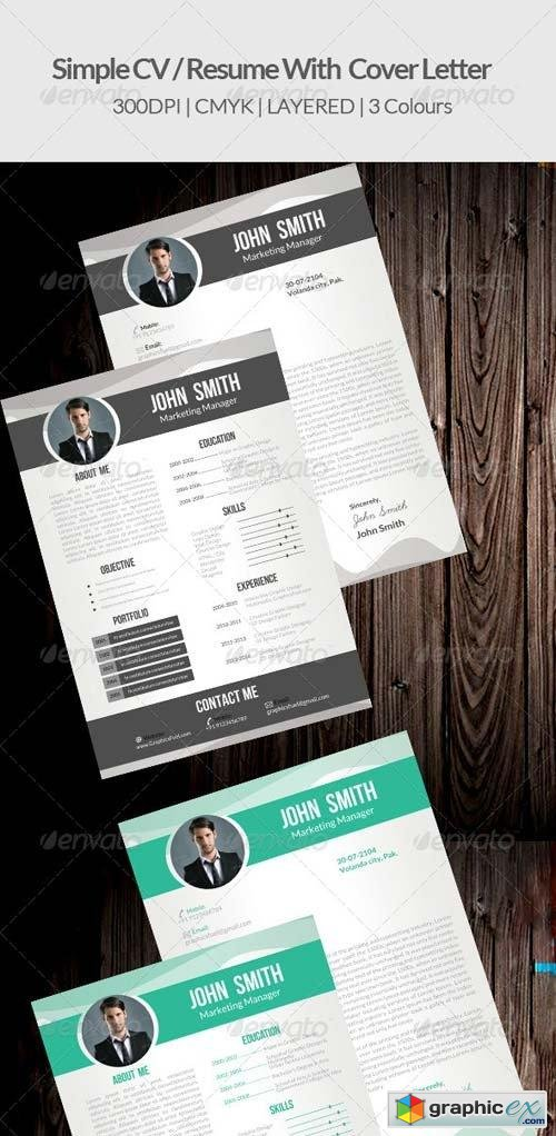 Simple CV/ Resume & Cover Letter