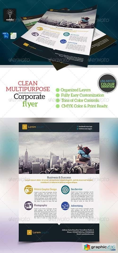 Corporate Flyer Template Business Vol03
