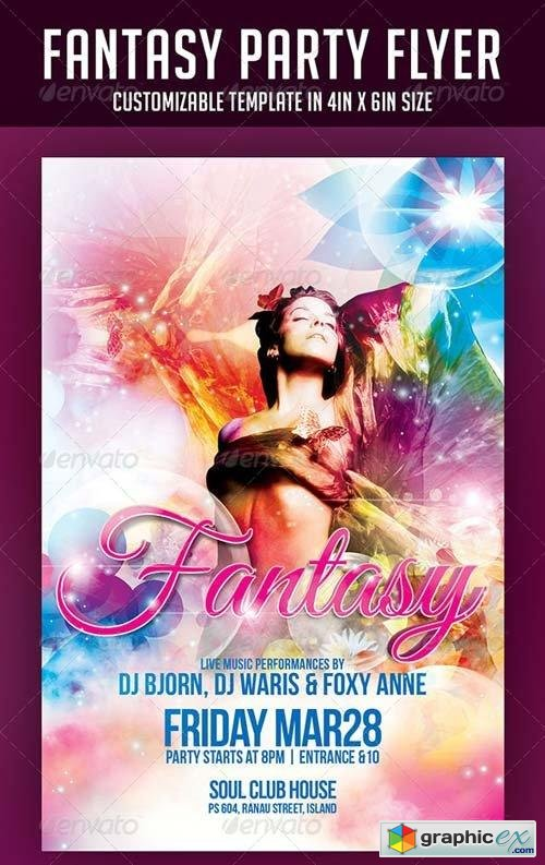 Fantasy Party Flyer 6905365