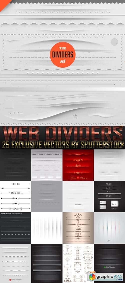 Web Dividers 25xEPS