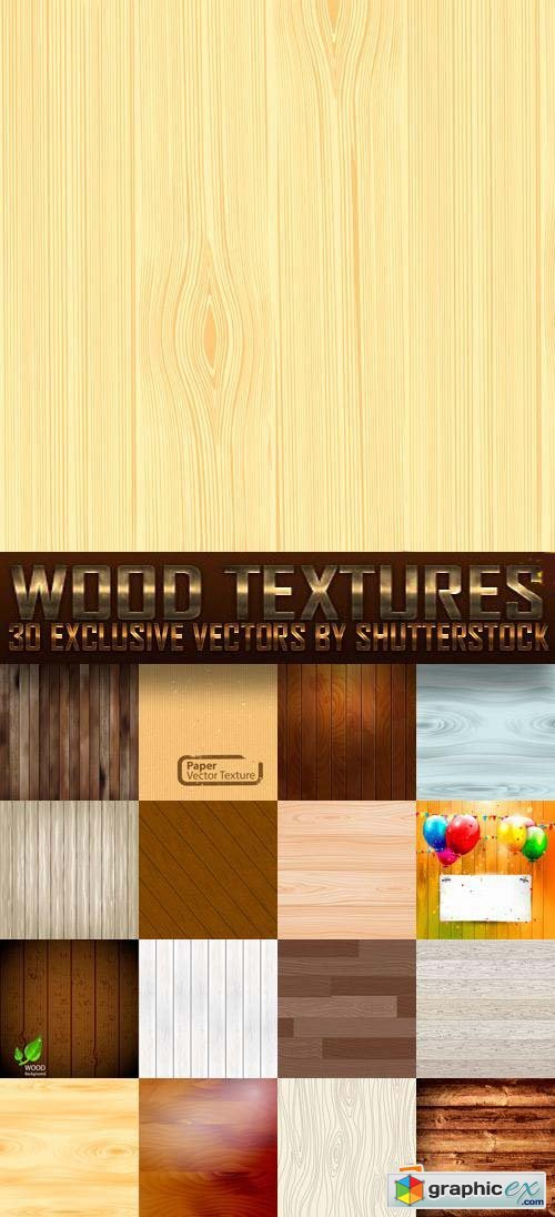 Wood Textures 30xEPS