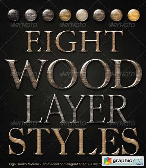 Smooth Glossy Elegant Wood Layer Styles