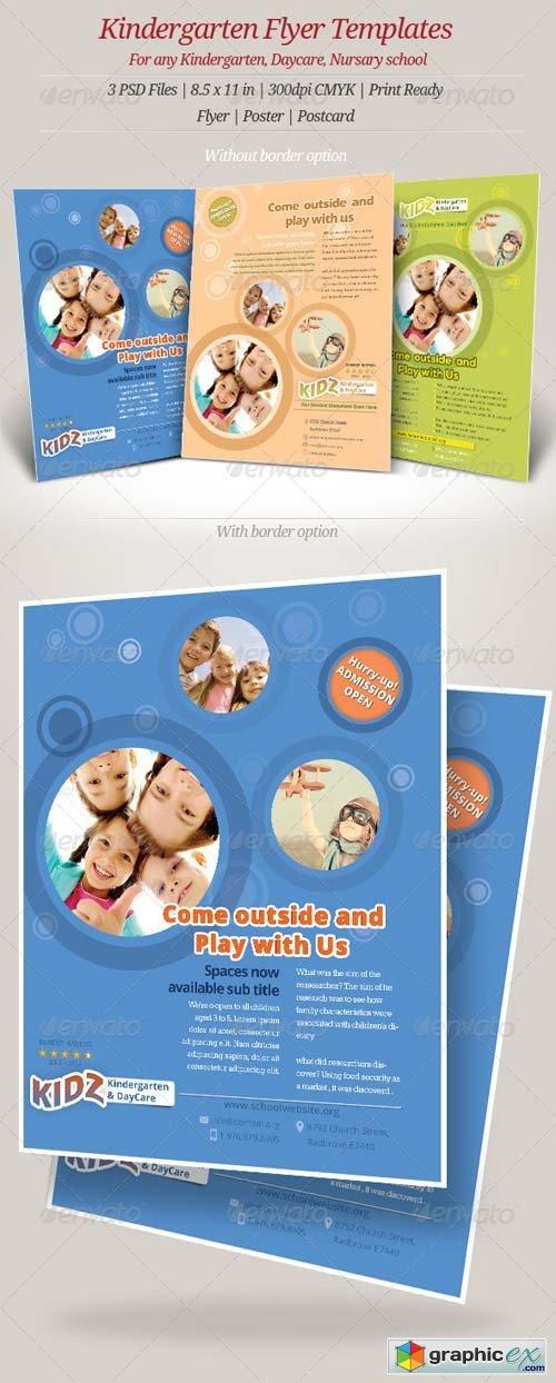 Kindergarten Daycare Flyer Templates Free Download Vector
