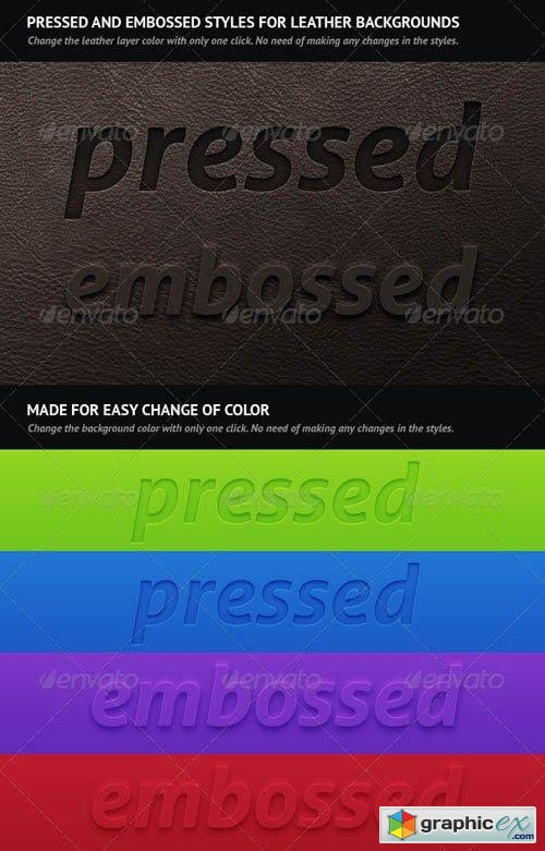 Pressed And Embossed Styles