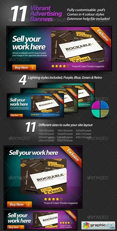 Vibrant Web Banners