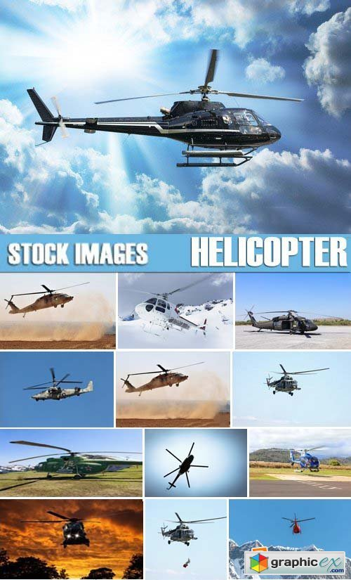 Stock Photos - Helicopter, 25xJPG