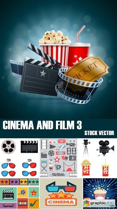 Stock Vectors - Cinema and Film 3, 25xEPS