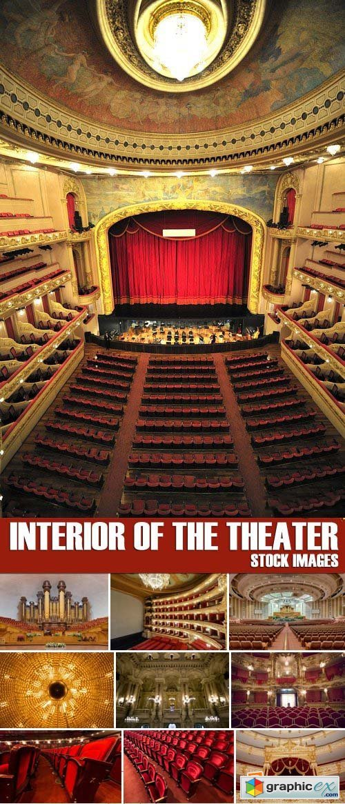 Stock Photos - Interior of the theater, 25xJPG
