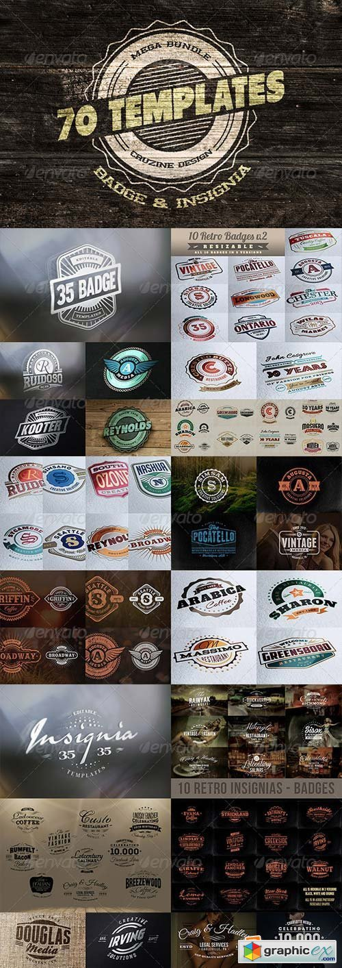 Logo / Badge / Insignia Templates Bundle