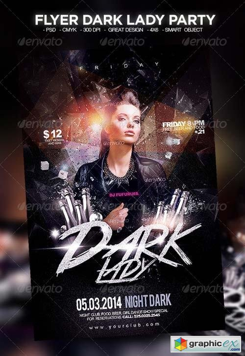 Flyer Dark Lady Party