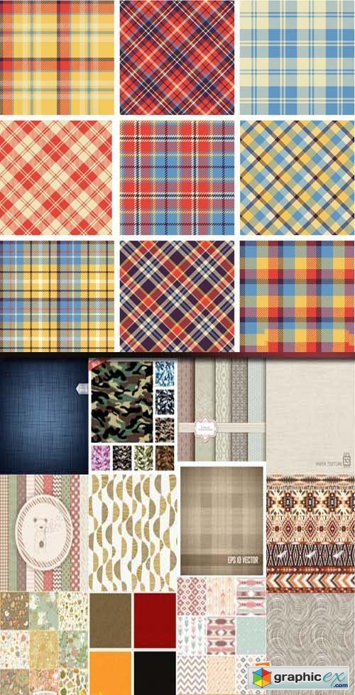 Fabric texture background, 25xEPS