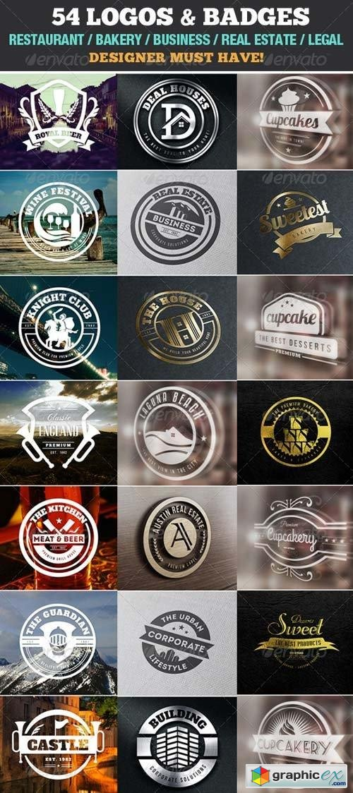 54 Logo Templates / Badge / Insignia / Bundle