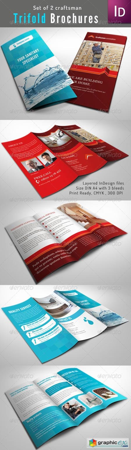Set of 2 Trifold Brochure 2247495