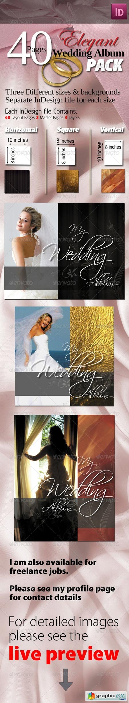 40 Pages Elegant Wedding Albums Pack 551474