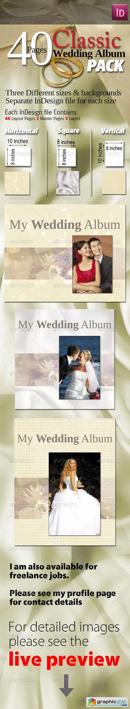 40 Pages Classic Wedding Albums Pack 551462