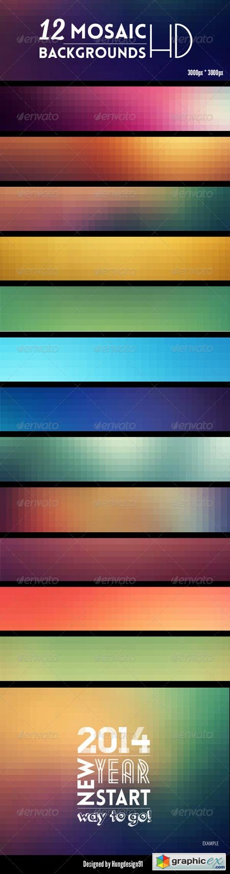12 Mosaic Backgrounds HD 6865992