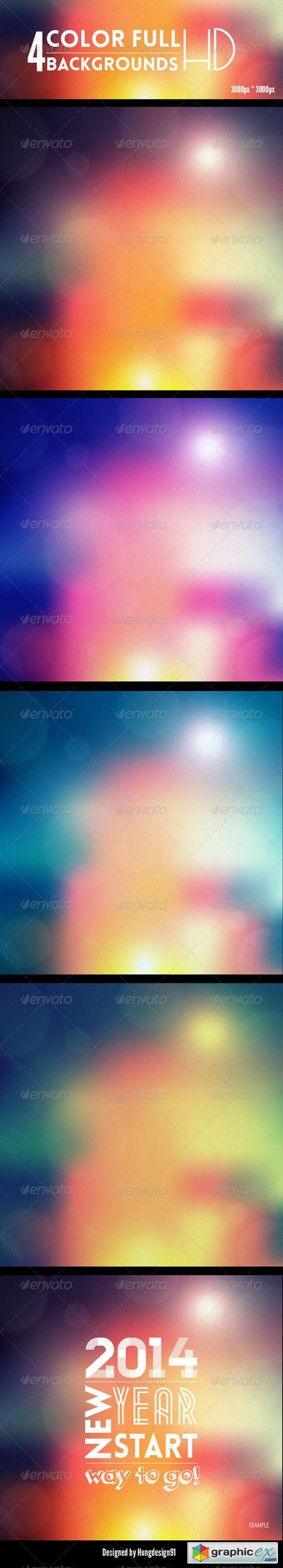 4 Amazing Color Full Backgrounds 6888439