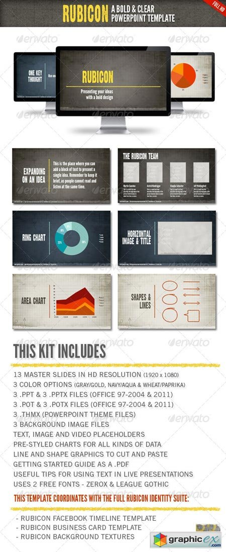 Rubicon Powerpoint Presentation Template 1932809