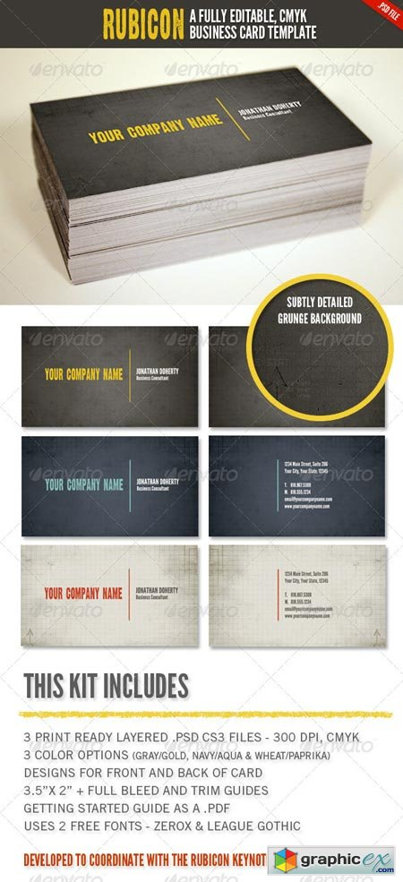 Rubicon Business Card Template Set 1423951