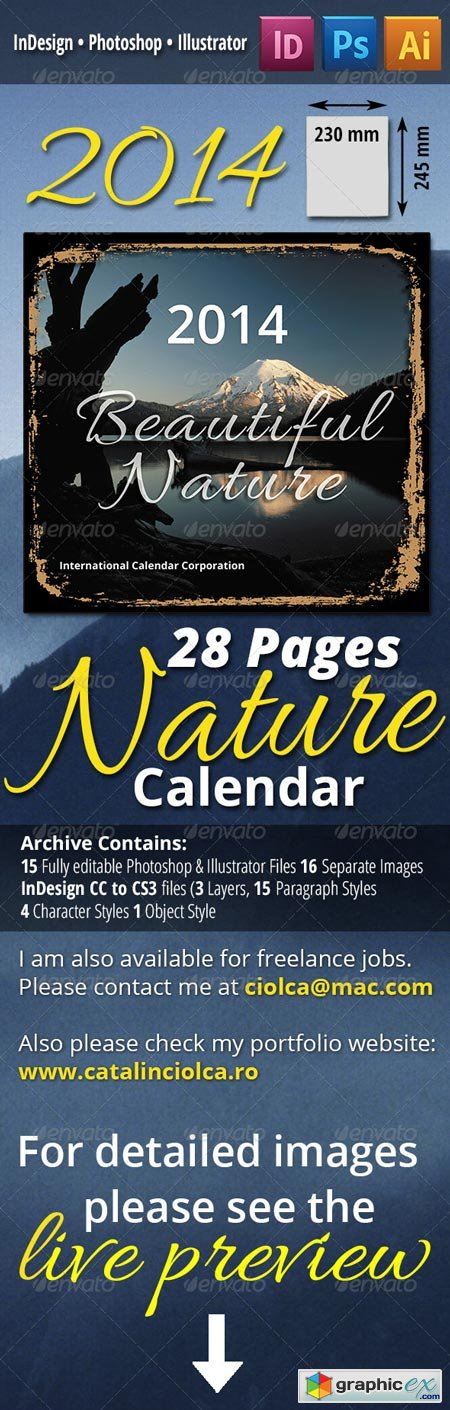28 Pages 2014 Nature Calendar 668981