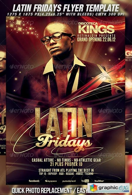 Latin Fridays Flyer Template 2295301