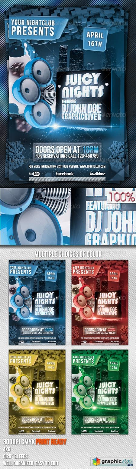 Juicy Nights Flyer Template 2148334
