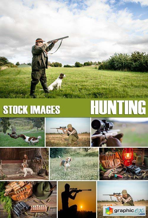 Stock Photos - Hunting, 25xJPG