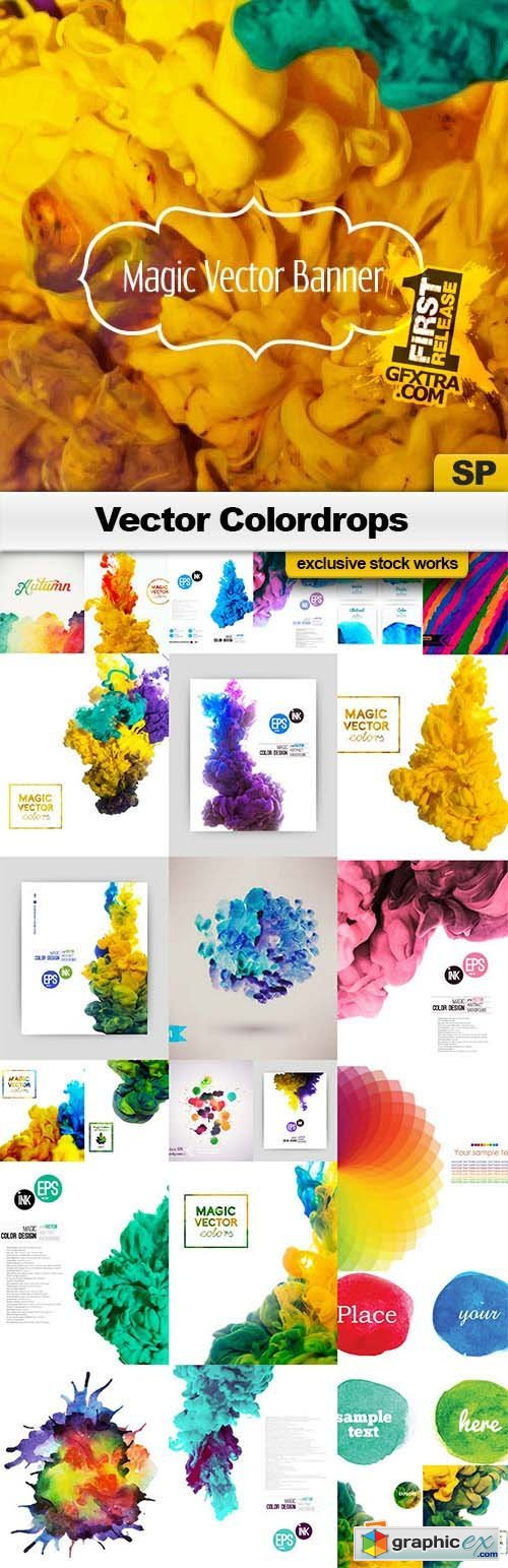 Vector Colordrops - 25x EPS