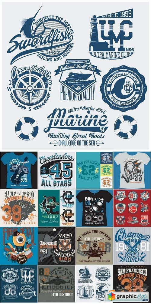 T shirt design elements in vector from stock 18 25xeps free t shirt design elements in vector from stock 18 25xeps gumiabroncs Images