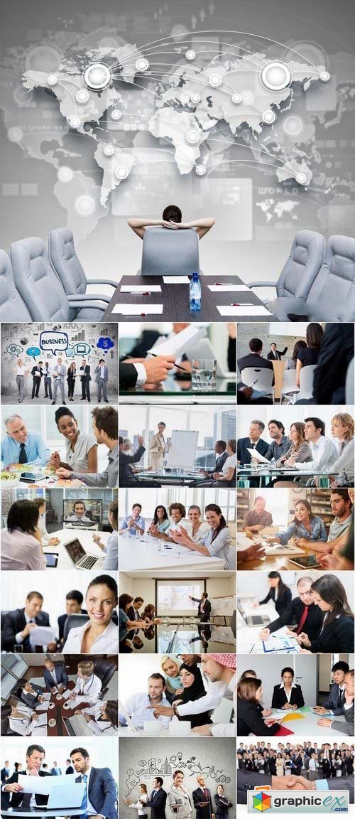 Business meeting and Businessmen's stock images 25xJPG
