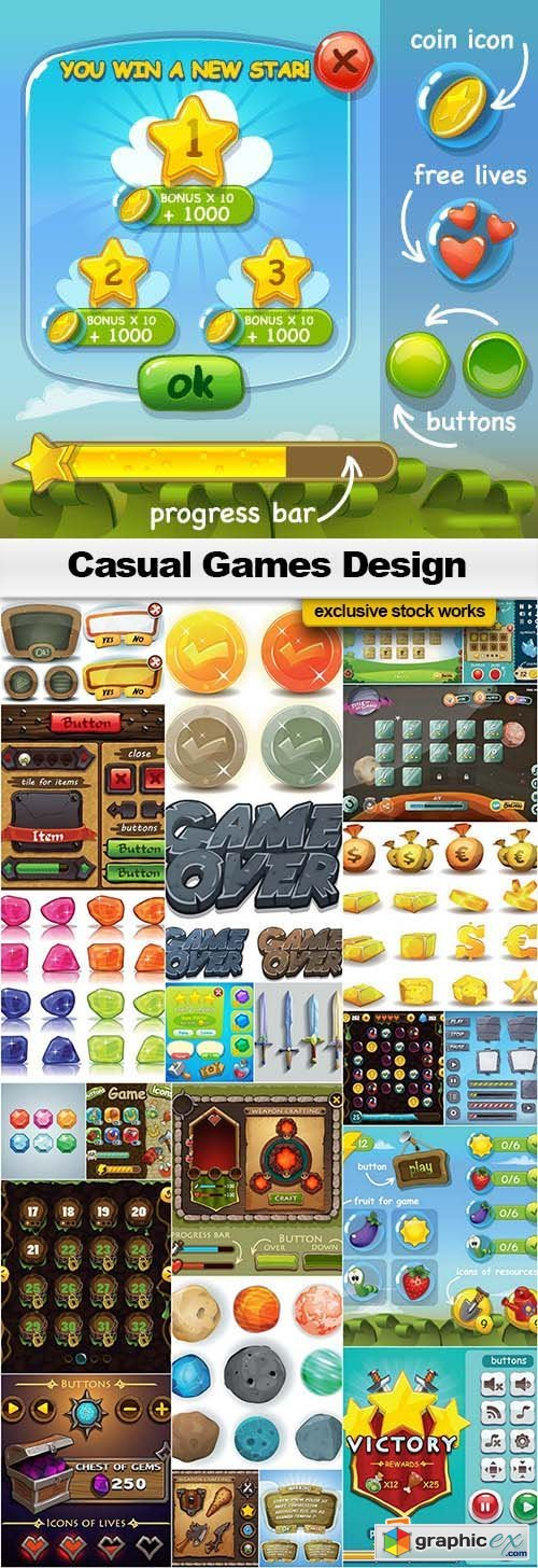Casual Games Design - 25x EPS