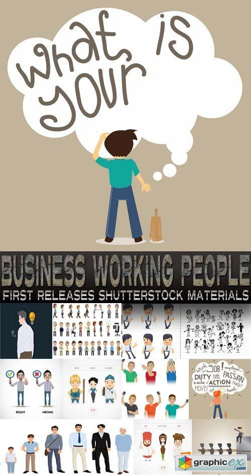Amazing SS - Business Working People, 25xEPS