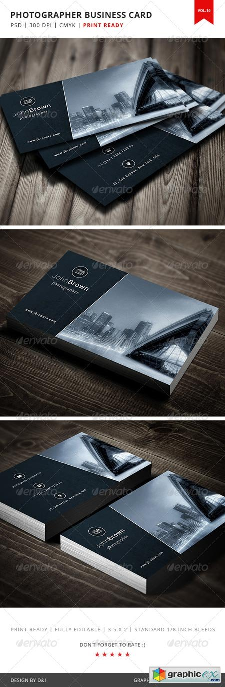 Photographer Business Card - Vol.16 5189531