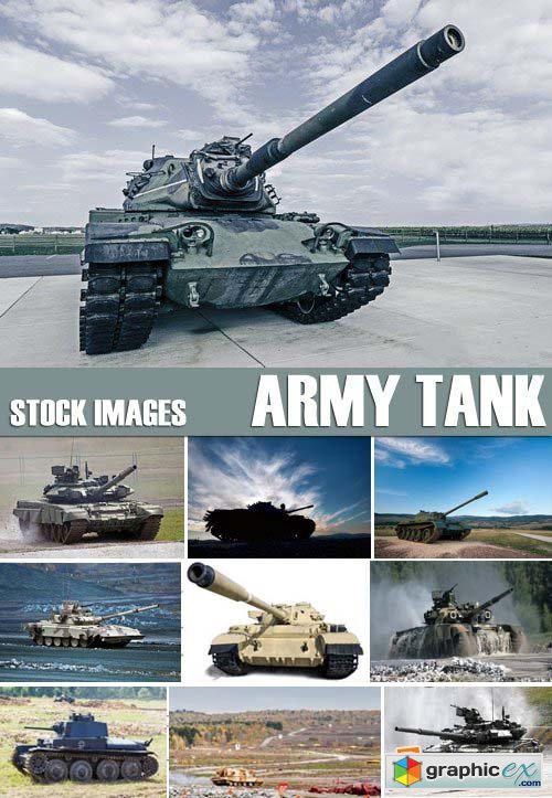 Stock Photos - Army tank, 25xJPG