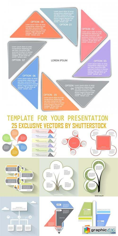 Stock Vectors - Template for your presentation, 25xEps