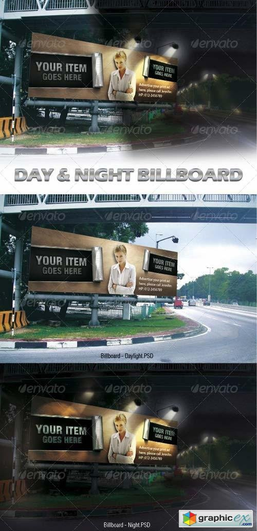 Day & Night Billboard Mock-ups
