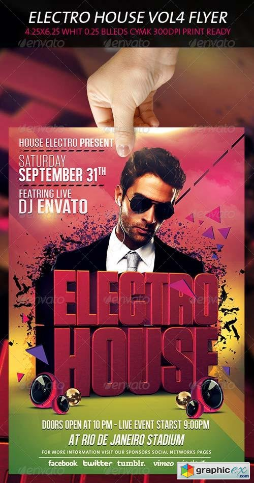 Electro House Flyer Vol 4