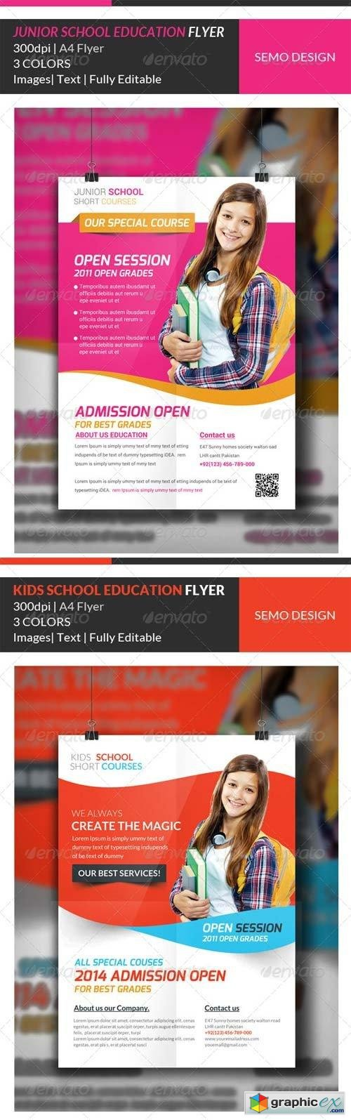 junior school education flyer template bundle junior school education flyer template bundle