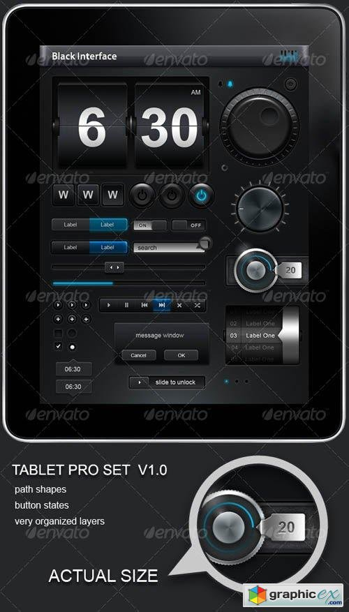 Tablet/Phone User Interface PROFESSIONAL SET