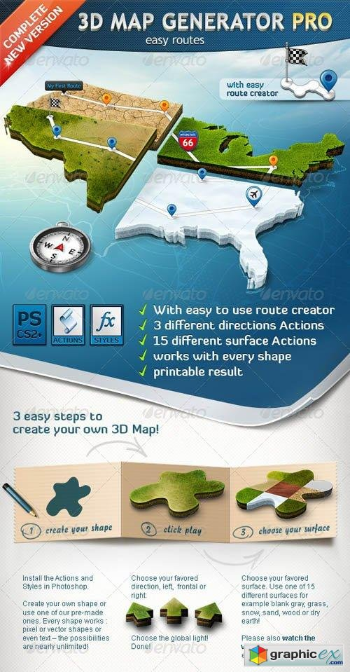 3D Map Generator Pro - Easy Routes