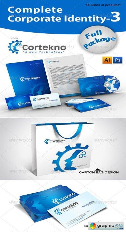 Complete Corporate Identity + 20 Free Mockup