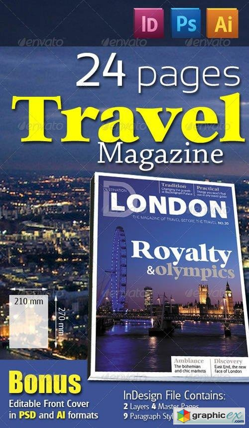 24 Pages Travel Magazine Version One