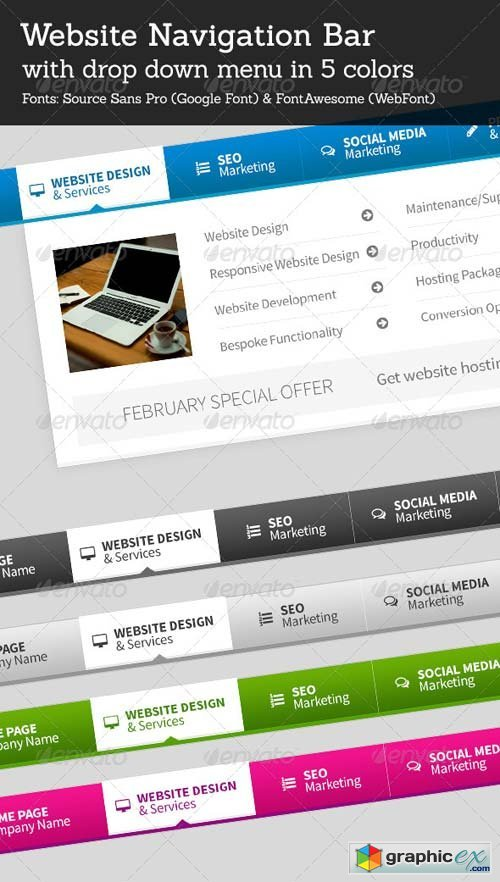 Psd for photoshop - admin login panel pack 4