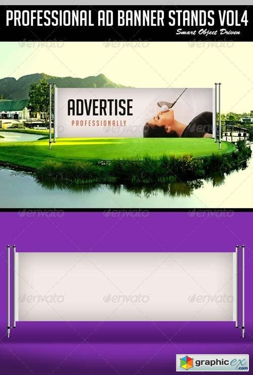 Ad Banner Stand Mockup vol 4