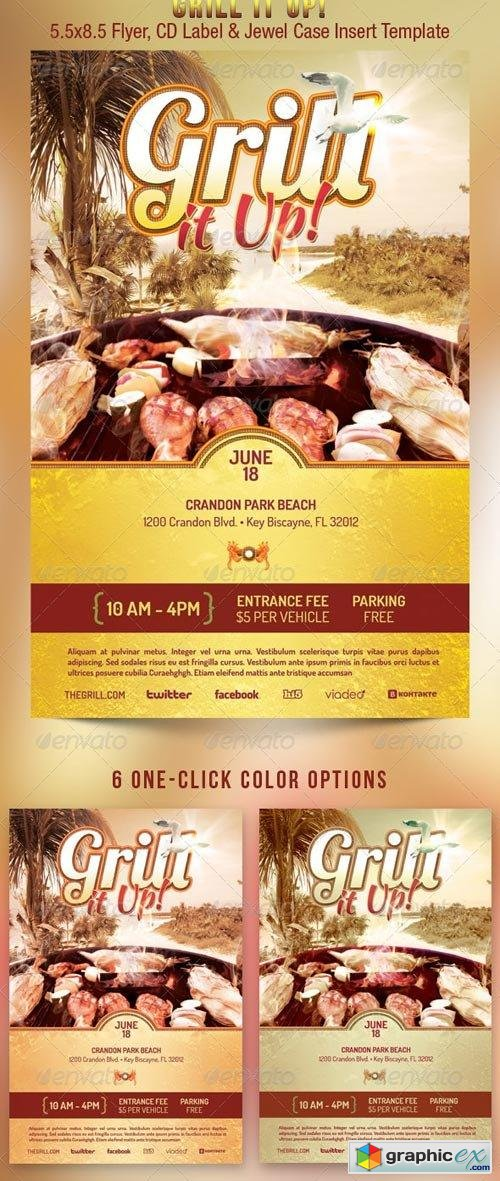 Grill It Up Flyer Template