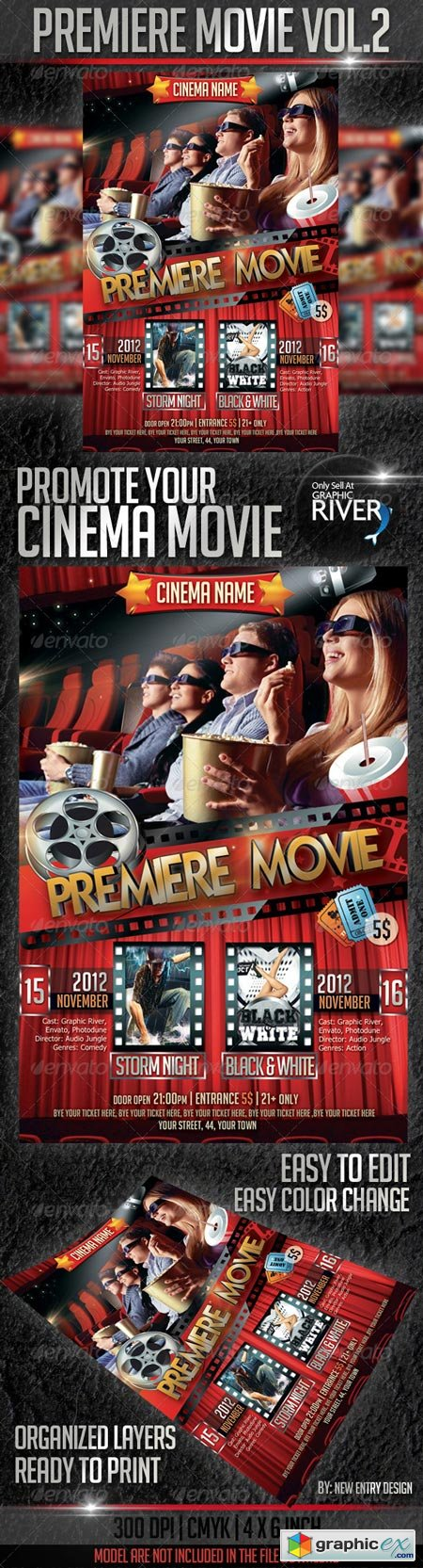 Premiere Movie Flyer Template Vol2 3087083