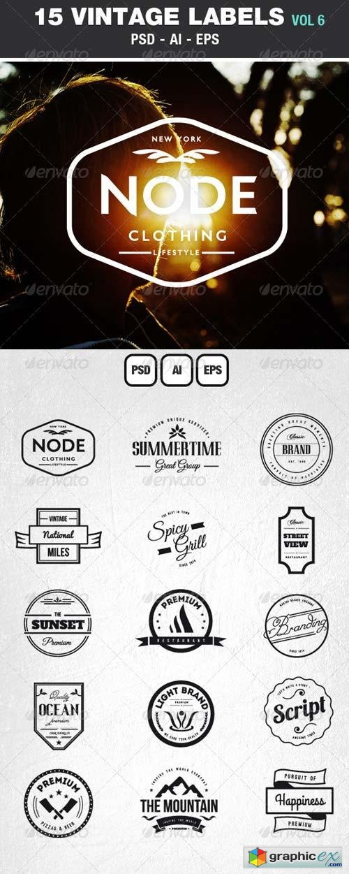 Retro Vintage Labels & Badges Logos V6