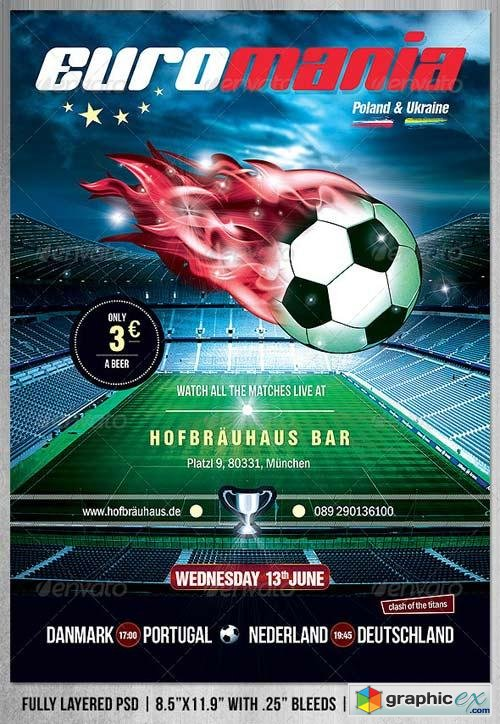 EuroMania Football (Soccer) Poster/Flyer