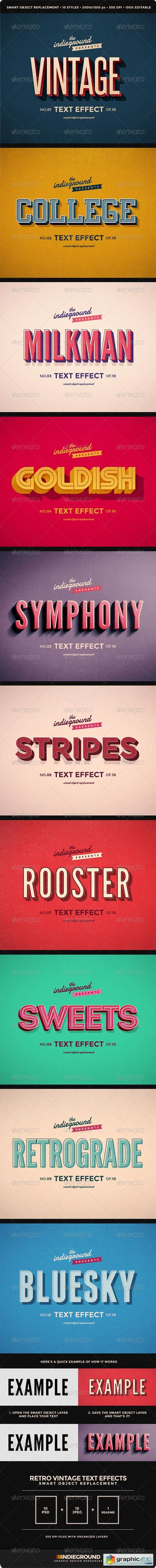 Retro Vintage Text Effects 8095568