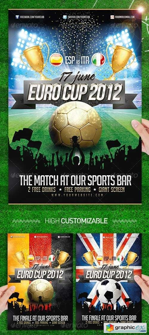 Euro Soccer Cup 2012 Flyer Template Football